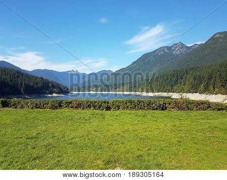 Scenic View of Capilano River Regional Park in North Vancouver Canada