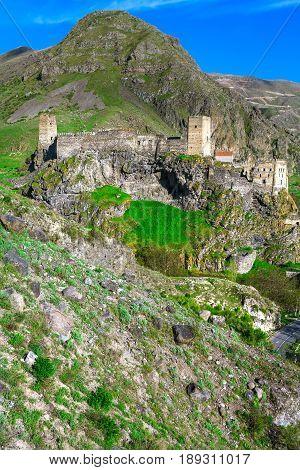 Medieval fortress of Khertvisi near the cave city of Vardzia Georgia