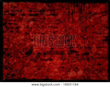 red grunge background, bloody surface