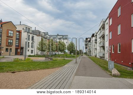 New housing district in Malmo in Sweden