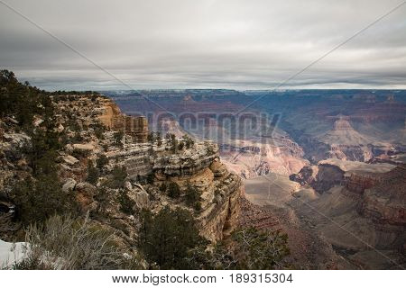 View Over The Grand Canyon From The South Rim Part