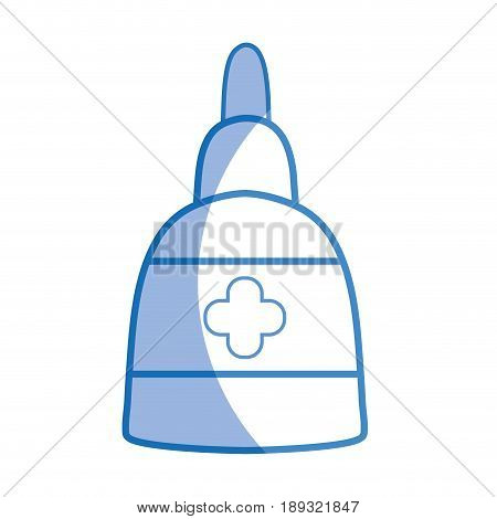 silhouette ointment treatment medicine cream to skincare vector illustration