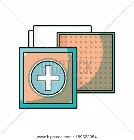 aid band to cure the wound in the body vector illustration