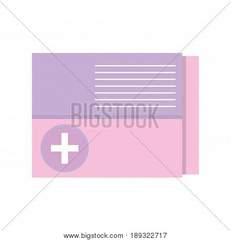 medicine box to pacient treatment and body care vector illustration