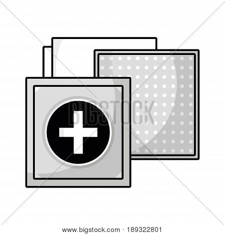 contour aid band to cure the wound in the body vector illustration