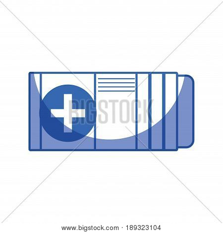 silhouette medicine box to pacient treatment and body care vector illustration