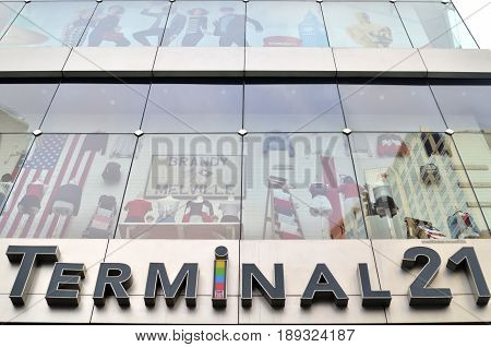 Sign Of Terminal 21 In Bangkok, Thailand