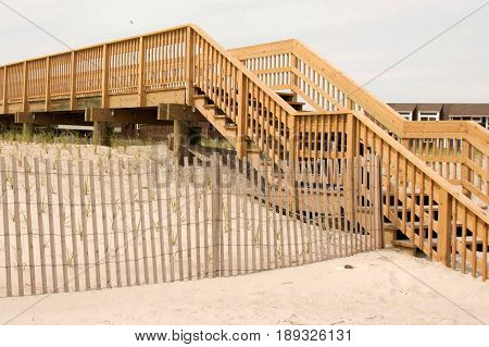 New stairs have been built on fire island to get you over the dunes and into town
