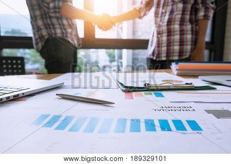 Business Partnership Meeting Concept. Image Businessmans Handshake. Successful Businessmen Handshaki
