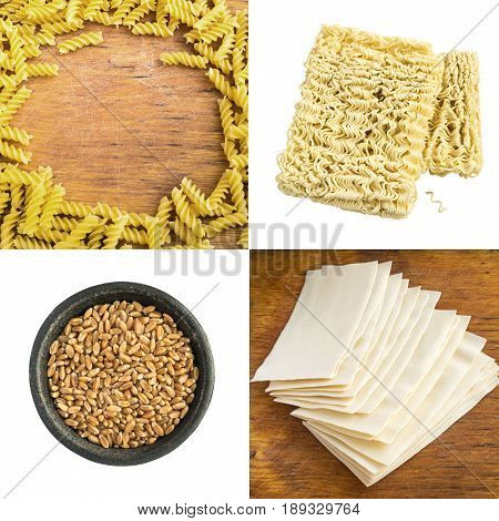 Pasta Collage Top View