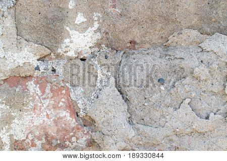Grunge Background With Dirty Lime Plaster
