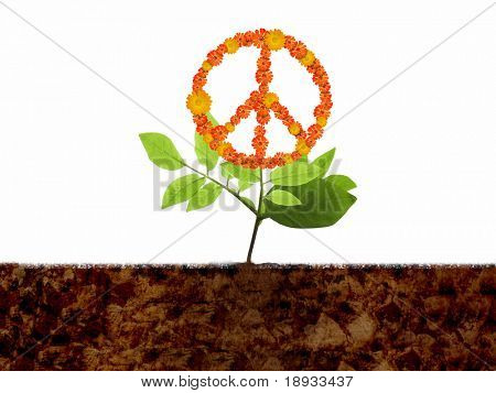 Growing peace symbol