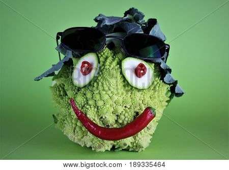 An image of crazy vegetable - fun, food