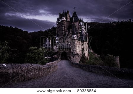 Burg Eltz - one of the most beautiful medieval castles of Europe at night