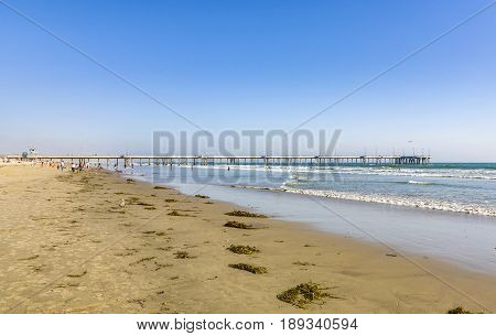 Beautiful Beach In Venice With The Famous Venice Pier