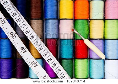 Sewing - Thread - Cotton Reels with tape measure and unpicker - variety of colors