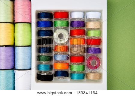 Sewing - Thread - Cotton Reels and Bobbins - variety of colors