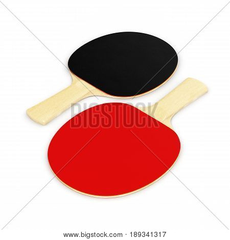 ping-pong racket isolated on white background 3d