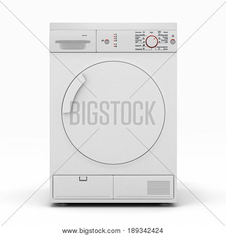 Dryer Machine Isolated  On A White Background 3D