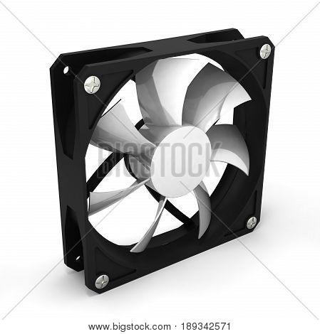 Computer Cooler Isolated On White Background 3D Render