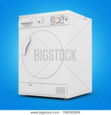 Dryer Machine Isolated On Gradient Background 3D Render