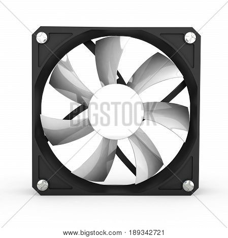Computer Cooler Isolated On White Background 3D Illustration