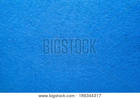Blue Color Felt Texture Background. Fiber texture of felt close-up