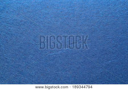Blue Color Felt Texture Background. Fiber texture of felt close-up