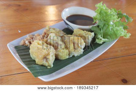 Chinese Steamed Dumpling at Bangkok , Thailand