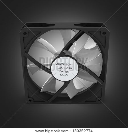Computer Cooler Isolated On Black Gradient Background 3D