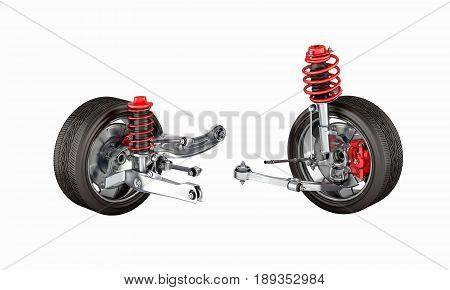 Suspension Of The Car With Wheel Without Shadow 3D