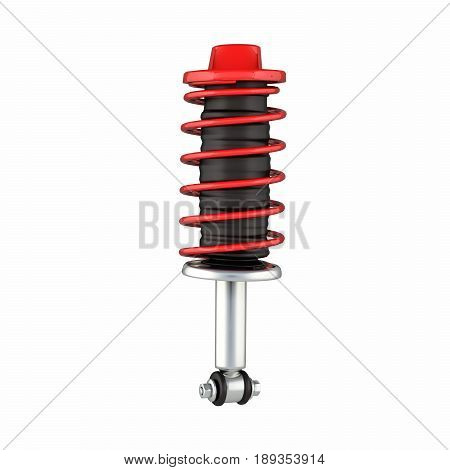 Suspension Of The Car On White Background 3D