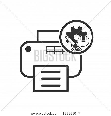Repair Icon. Printer Service Symbol