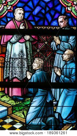 Stained Glass - Christianization Of Kongo