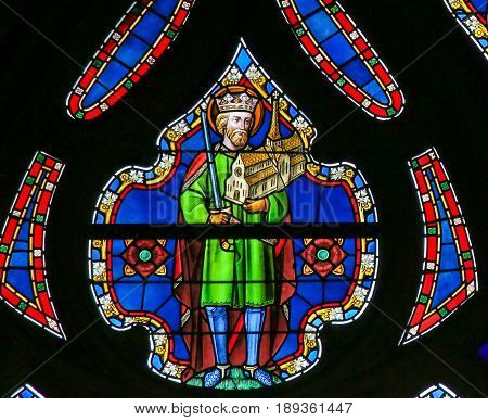 Stained Glass - King Saint