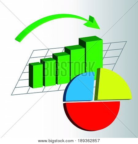 Abstract graphs on white background. Vector illustration.