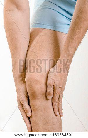 Athlete Man Feeling Pain To The Quadriceps