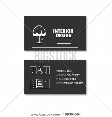 Simple Business Card Of Interior Designer