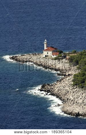 Cape Razanj on the west side of the Brac island