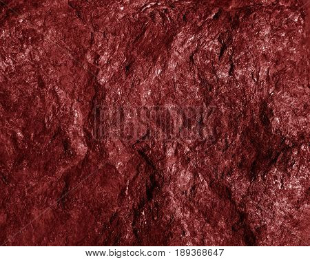 red Close up rocks. Red Stone texture.