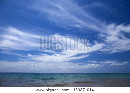 Cirrus Clouds Over Ocean