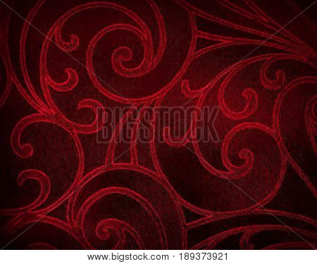Abstract floral background in red tones. Red pattern.