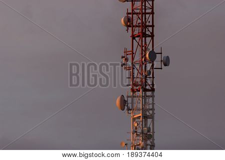 Antenna Tower,antenna Tower Building With The Blue Sky