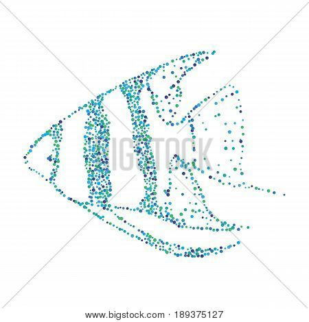Dotted Halftone Aquarium Fish