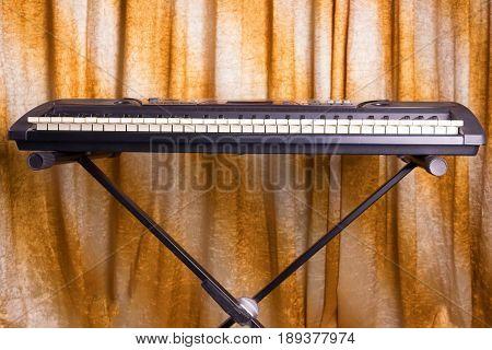 Electronic Musical Keyboard Synthesizer Close-up