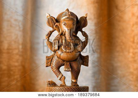 Ganesha Wooden Figurine