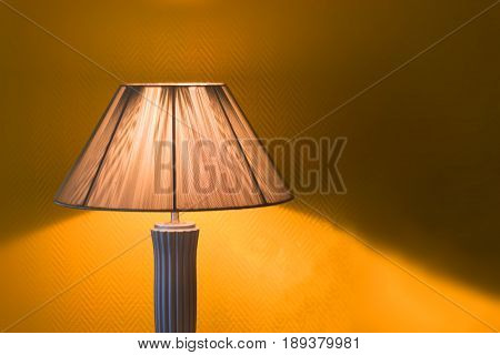Nice Luminous Desk Lamp On Ginger Background