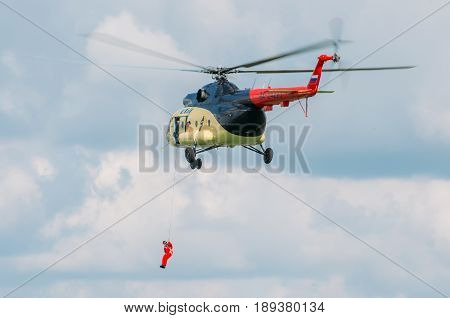 Helicopter Mill 8 Decent People, Russia, Tyumen August 2014.