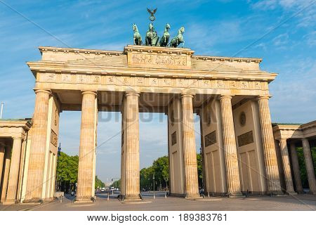 The Brandenburg Gate, Berlins most famous landmark
