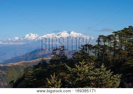 Mt. Kanchenjunga viewed from Sandakphu Darjeeling India